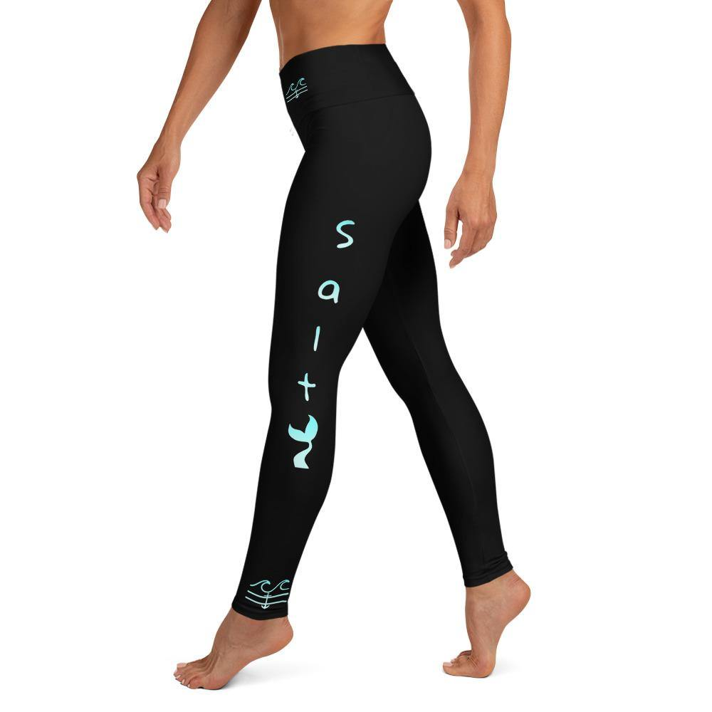Salty Mermaid Performance Leggings (Midnight Aqua)