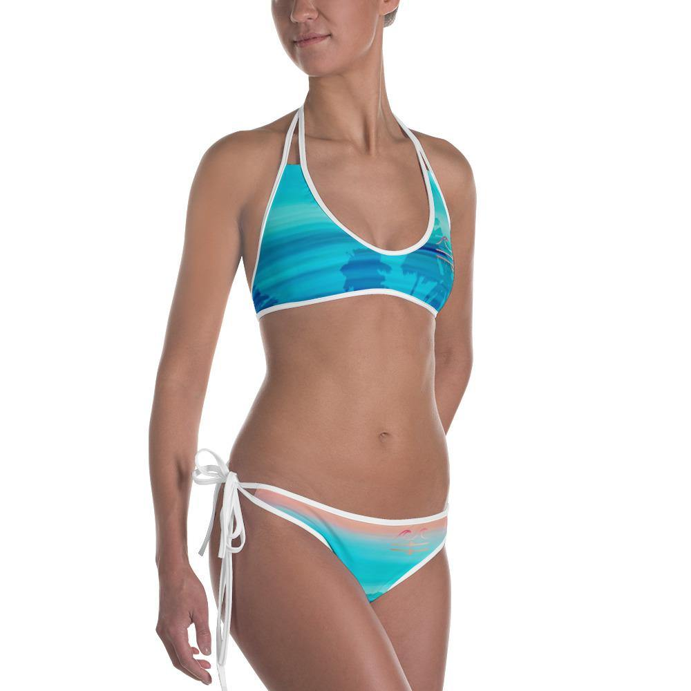 flacoastal - Sunset Palms Reversible Bikini