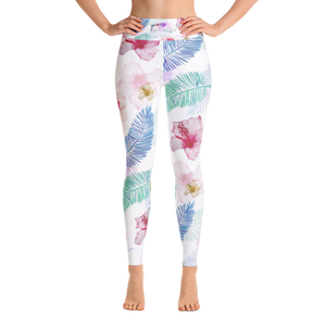 Tropical Vibes Full Length Yoga Leggings