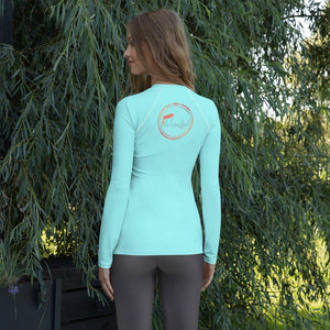 Spring Blue Women's Rash Guard