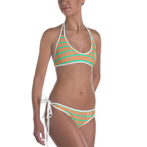 flacoastal - Fla Coastal Mint & Orange Cream Reversible Bikini