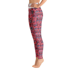 Fla Coastal Mermazing Full Length High Rise Leggings | Coral