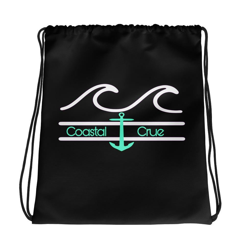 flacoastal - Black Drawstring bag