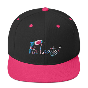 flacoastal - Fla Coastal Tropical Vibes Flat Bill Snapback Hat