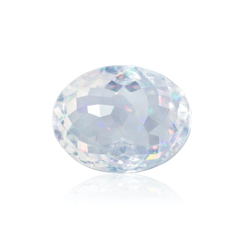45.59-carat rose-cut faceted crystal opal by Gary Braun, Finewater Gems.
