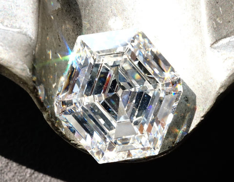 A 9.67-carat octagonal step-cut diamond with I color and VS2 clarity from Jogani.