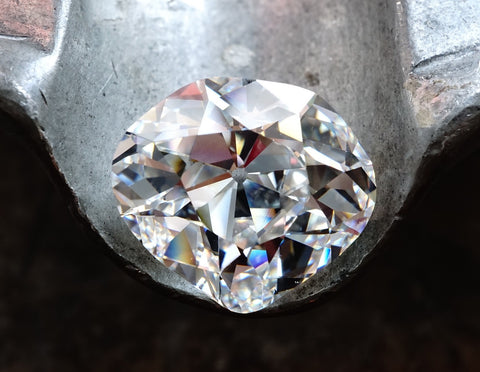 An 8.02-carat heart-shaped diamond with H color and VS1 clarity from Jogani.