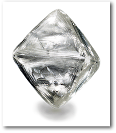 Natural octahedral diamond crystal. Photo by Robert Weldon/GIA.