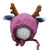 Newborn Baby Photography Props Knitted Handmade Hat Deer [Pink]
