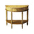 Demilune Console Table Tuscan Cream Hand Painted Light