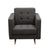 Diamond Sofa Home Furniture Opus Tufted Chair Grey