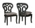 Guildmaster Home Decorative Artifacts Side Chairs In Weathered Grey - Gray