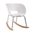Fine Mod Imports Vac Arm Rocker Chair, White