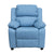 Offex Deluxe Heavily Padded Contemporary Light Blue Vinyl Kids Recliner with Storage Arms
