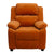 Offex Deluxe Heavily Padded Contemporary Orange Microfiber Kids Recliner with Storage Arms