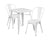 White Metal Indoor-Outdoor Table Set With 2 Stack Chairs [Ch-31330-2-30-Wh-Gg]