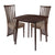 Westerly 3 Piece Espresso Wood Dining Table Set with Dramatic Rail Back Design Wood Dining Chairs - Padded Seats