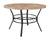 "Tremont 47"""" Round Dining Table in Quartz Marble-Like Finish"