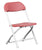 Offex Kids Burgundy Plastic Folding Chair