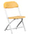 Offex Kids Yellow Plastic Folding Chair