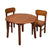 Natural Hardwood Round Table and Chair Set (Honey Finish)