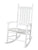 Gift Mark Adult Tall Back Rocking Chair White