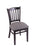 "3120 18"""" Chair with Black Finish, Allante Medium Grey Seat"