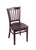 "3120 18"""" Chair with Dark Cherry Finish, Dark Cherry Seat"