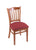 "3120 18"""" Chair with Medium Finish, Allante Wine Seat"