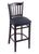 "3120 25"""" Stool with Black Finish, Allante Dark Blue Seat"