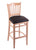 "3120 25"""" Stool with Natural Finish, Allante Espresso Seat"