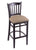 "3120 30"""" Stool with Black Finish, Rein Thatch Seat"