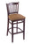 "3120 30"""" Stool with Dark Cherry Finish, Allante Beechwood Seat"