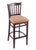 "3120 30"""" Stool with Dark Cherry Finish, Axis Summer Seat"