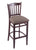 "3120 30"""" Stool with Dark Cherry Finish, Axis Truffle Seat"