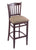 "3120 30"""" Stool with Dark Cherry Finish, Rein Thatch Seat"