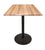 "30"""" OD214 Black Table with 30"""" x 30"""" Square Indoor/Outdoor Natural Top"