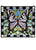 "25""""W X 23""""H Butterfly Stained Glass Window"
