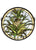"Meyda 16""""W X 16""""H Welcome Pineapple Medallion Stained Glass Window"