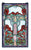 "15""""W X 25""""H Nouveau Lily Stained Glass Window"