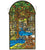 "Meyda 16""""W X 30""""H Tiffany Waterbrooks Stained Glass Window"