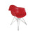 Paris Tower Arm Chair Chrome Leg 2-Pack - Red