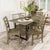 WE Furniture Madison 7 Piece Wood Dining Set - Aged Grey