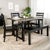 WE Furniture Madison 6 Piece Wood Dining Set - Aged Grey/Black