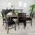 WE Furniture Madison 7 Piece Wood Dining Set - Aged Grey/Black