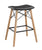 Retro Modern Faux Leather Counter Kitchen Stool - Black