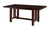 WE Furniture Wood Kitchen Dining Table with Removable Center Leaf - Cappuccino