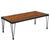 Baldwin Collection Wood Grain Finish Coffee Table with Metal Legs