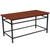 Granada Hills Collection Wood Grain Finish Coffee Table with Metal Legs