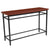Granada Hills Collection Wood Grain Finish Console Table with Metal Legs